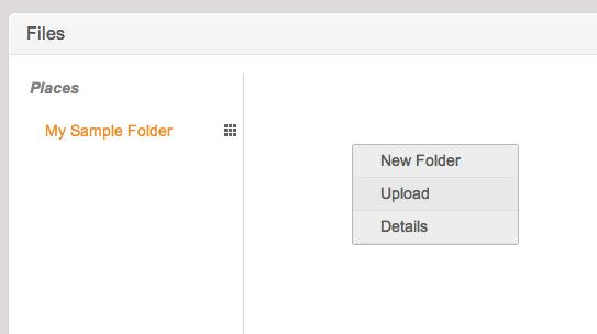 Folder Upload Menu